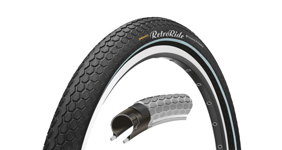 "Continental Retro Ride band 28"" draadband Reflex zwart"